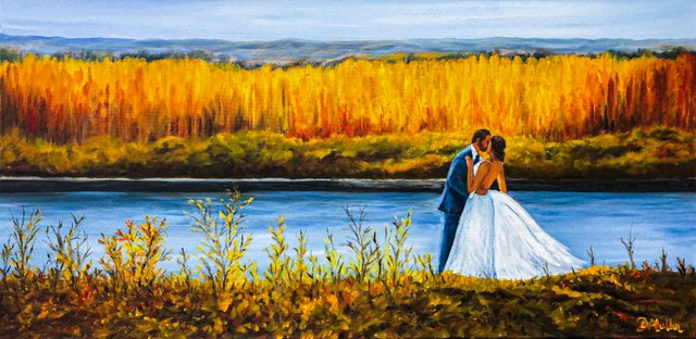 Donna Muller - 483 Wedding commission paintings, 15 x 30, oil, gallery canvas - mar 02_1.jpg